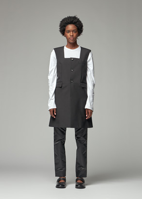 Comme des Garcons Women's Wool Mohair Long Vest Jacket in Black Size Small Wool/Mohair/Cupro Lining