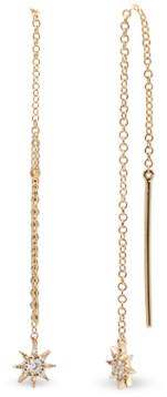 AUGUST & JUNE Star Threader Earrings