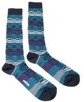 Missoni Gm00cmu5241 0003 Blue/purple Knee Length Socks.