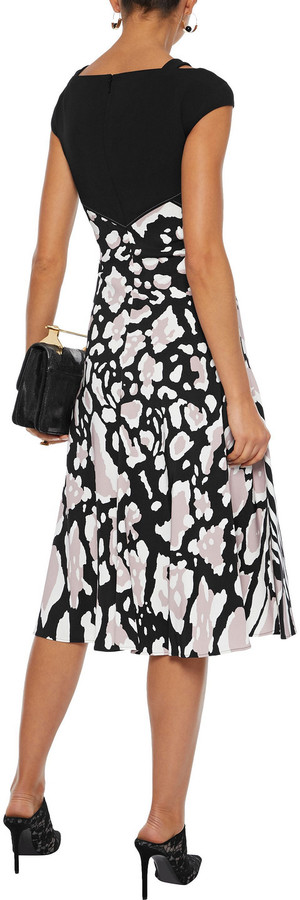 Thumbnail for your product : Roberto Cavalli Cutout Printed Stretch-crepe Dress