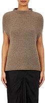 Rick Owens Women's Ribbed Cap-Sleeve Sweater-GREY