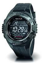 Sector Sports Watch R3251372215 In Collection Street with Digital Display, Dark Grey Dial and Pu Strap