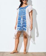 Taupe & Blue Natasha Dress Cover-Up - Plus Too
