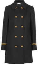 Tory Burch Optique Wool-blend Gabardine Coat - Black