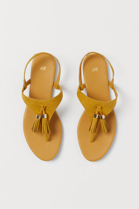 H&M Tasseled Sandals - Yellow