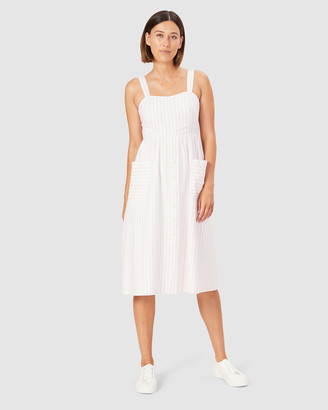 French Connection Women's Dresses - Stripe Bustier Dress - Size One Size, 12 at The Iconic