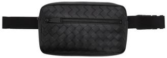 Bottega Veneta Black Medium Intrecciato Belt Bag