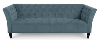 "Jonathan Louis Arielle Chesterfield 91"" Flared Arm Sofa Upholstery Color: Medium Blue"