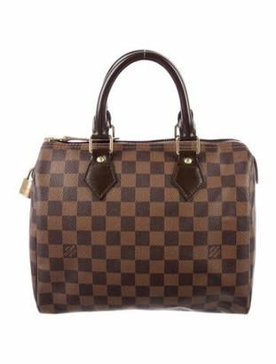 Louis Vuitton Damier Ebene Speedy 25 Brown