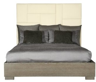 Bernhardt Mosaic Solid Wood and Upholstered Bed Size: California King