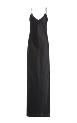 Nili Lotan Cara Silk-Satin Maxi Slip Dress