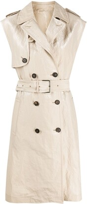 Brunello Cucinelli Belted Trench Coat
