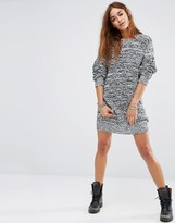Religion Oversized Sweater In Space Knit