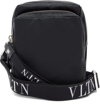 Valentino Vltn Logo-jacquard Cross-body Bag - Black