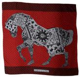 Hermes A Cheval Sur Mon Carré Cashmere Silk Shawl