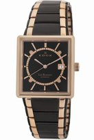 Edox Men's 82005 357RN NIR Les Bemonts Rectangular Automatic Watch