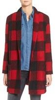 BB Dakota Women's Holton Plaid Shawl Collar Coat