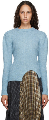 ANDERSSON BELL Blue Alpaca Puff Sleeve Rozi Sweater