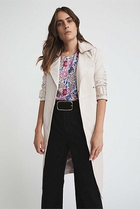 Witchery Leather Trench