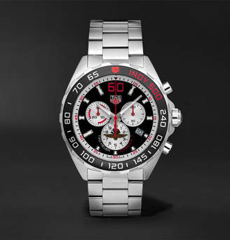 Tag Heuer Formula 1 Indy 500 Chronograph 43mm Brushed And Polished-Steel Watch