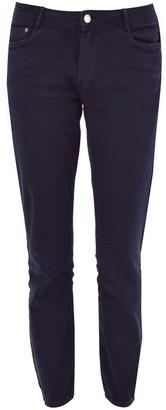 Ex Zara Zara Womens Cropped Low Rise Skinny Jeans Navy Size 8