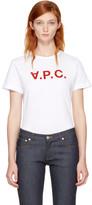 A.P.C. White 'V.P.C.' T-Shirt