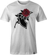 Famous Stars & Straps Men's Stencil Rose Graphic-Print Logo T-Shirt