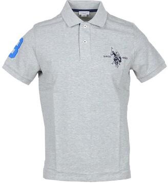 U.S. Polo Assn. Gray Pique Cotton Men's Polo Shirt