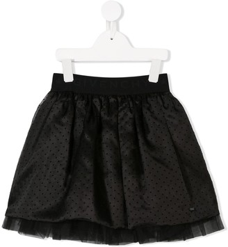 Givenchy Kids polka-dot tulle skirt