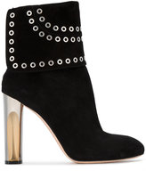Alexander McQueen fold over eyelet ankle boots