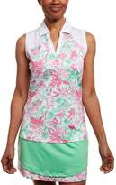 Women's Pebble Beach Floral Print Sleeveless Golf Polo