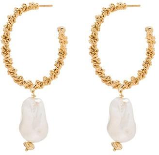Joanna Laura Constantine Gold-Plated Pearl Hoop Earrings