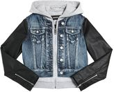 Diesel Denim, Faux Leather & Sweatshirt Jacket