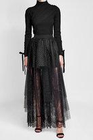 Elie Saab Virgin Wool Pullover with Velvet