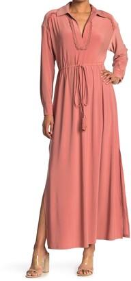 Taylor Solid Jersey Maxi Shirt Dress