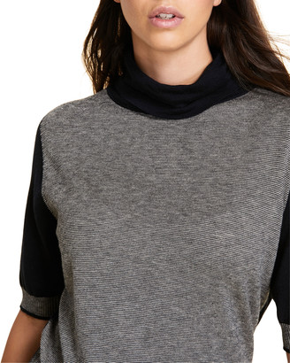 Marina Rinaldi Plus Size Atena Colorblock Fine-Stripe Turtleneck Sweater