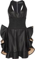 David Koma Ruffled Leather Dress