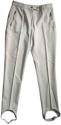 Celine White Cloth Trousers