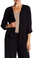 Chaus Open Front Crinkle Jacket