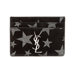 Saint Laurent Star suede cardholder