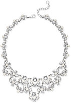 Charter Club Silver-Tone Crystal Garland Bib Necklace, Only at Macy's