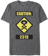 Fifth Sun Charcoal Monsters University 'Caution 2319' Tee - Men & Big
