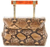 Judith Leiber Python Top Handle Bag