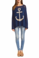 Wooden Ships Anchor Raglan Sweater