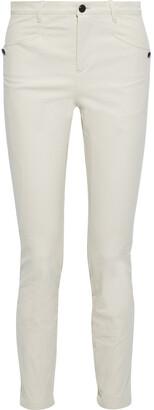 Isabel Marant Leonard Button-detailed Cotton-blend Twill Skinny Pants