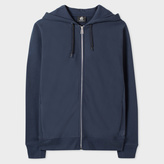 Paul Smith Men's Slate Blue Organic-Cotton Zip-Front Hoodie