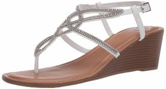 Fergie Womens Charisma White City Sandals 5 M