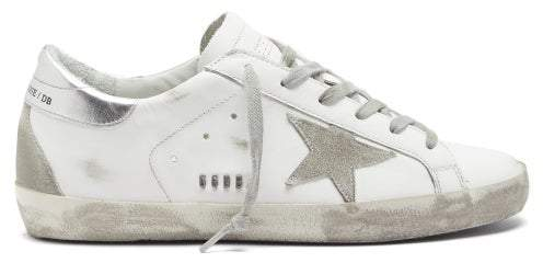 Golden Goose Superstar Leather Trainers - Womens - White Silver