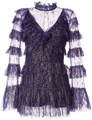 Alice McCall Zen tiered ruffle mini dress