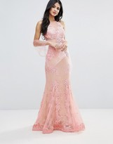 Forever Unique Lace And Sheer Maxi Dress